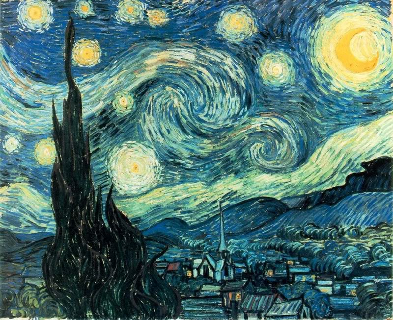 Art Elements Of Painting : The starry night k. a. s. art gossip!
